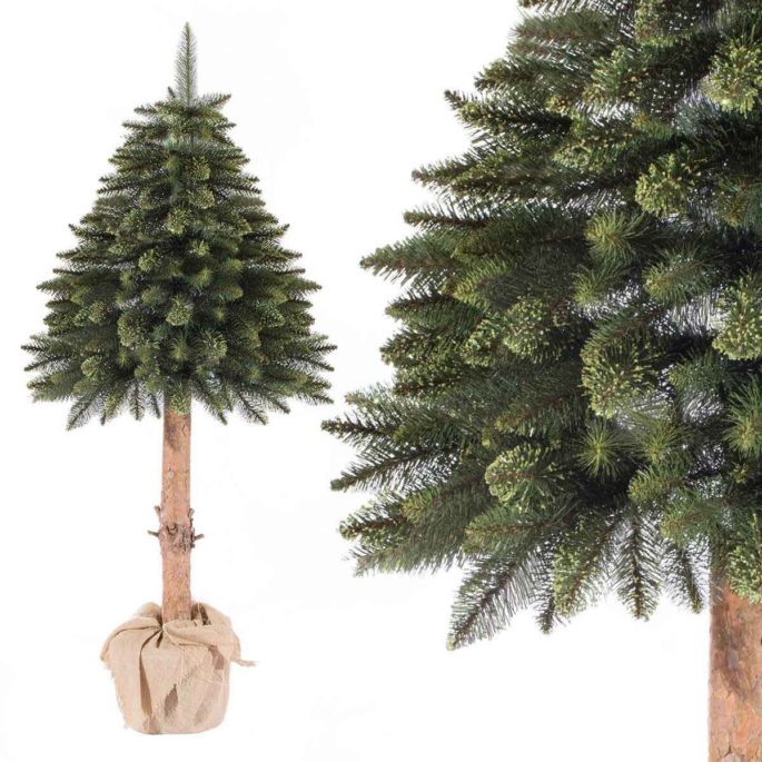 Рождественская елка на стволе - альтернатива классике