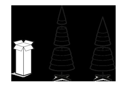Как разложить искусственную елку?