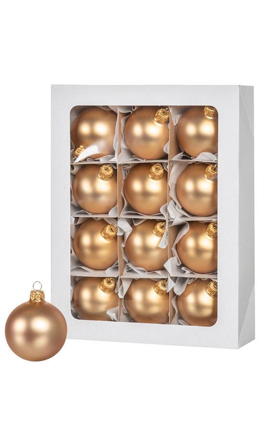Золотые рождественские шары 12 шт. 6 см